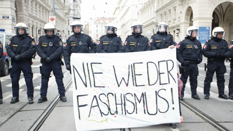 Many police, few protesters as far right enters Austrian government