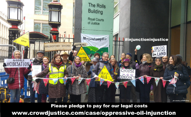 UNITED KINGDOM: Support freedom to protest and stop oppressive oil injunction