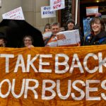 Photo by Neil Scott (Time to Take Back Our Buses petition hand-in at Glasgow City Chambers on 29 January 2020