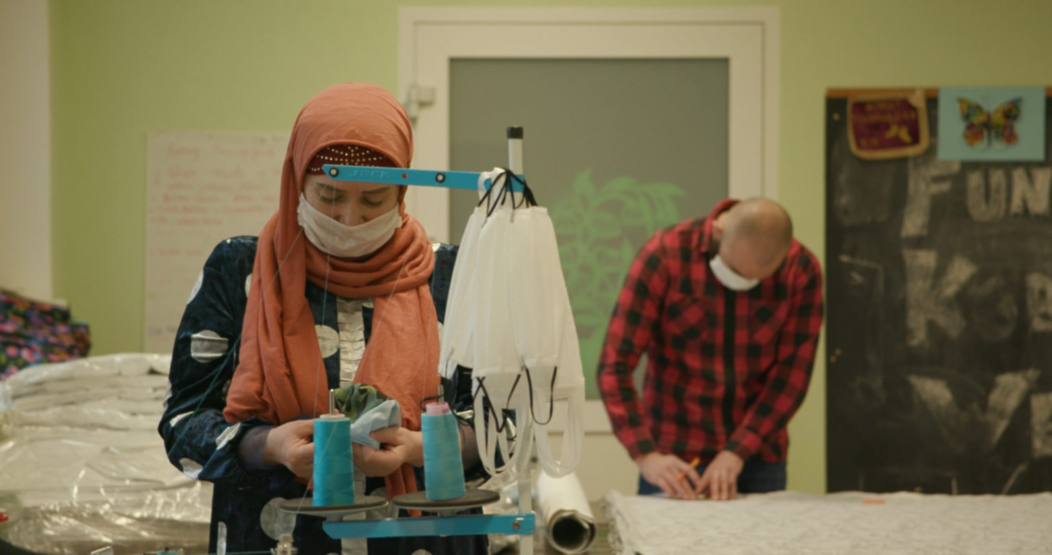POLAND: Interview with Women on the Road Foundation – Women refugees sew masks for everyone in Poland