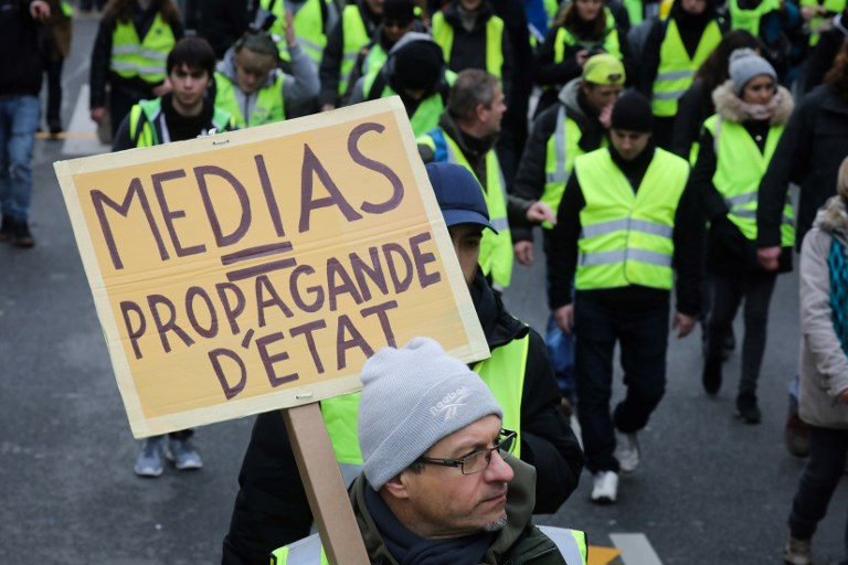 FRANCE: Any silence justifies the lynching': Media watchdog condemns 'yellow vest' attacks on journalists