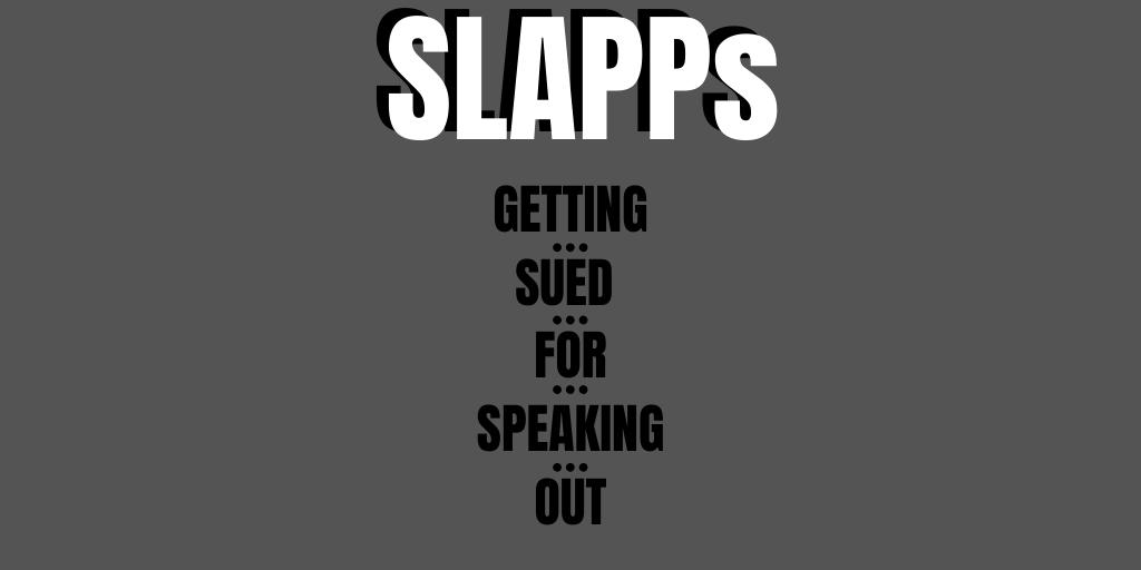 RCMF: SLAPPs – Strategic Lawsuits Against Public Participation