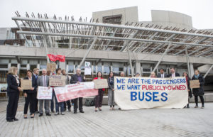 Photo by Bruce White (taken at the Publicly-Owned Buses for Scotland rally at the Scottish Parliament on 3 October 2018)
