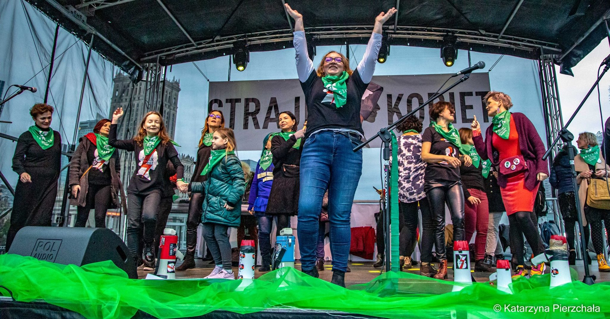 POLAND: Women's Day – dance for legal abortion in the streets of Warsaw.