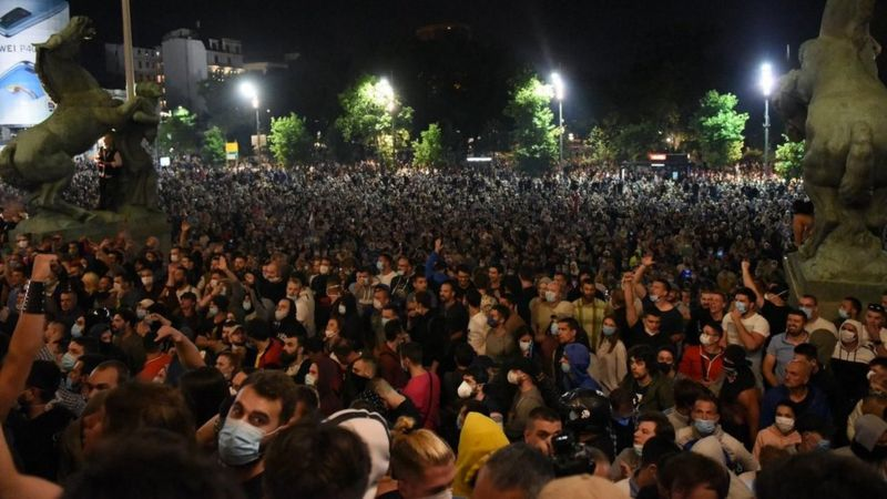 Serbia: statement following police brutality at anti-government protests