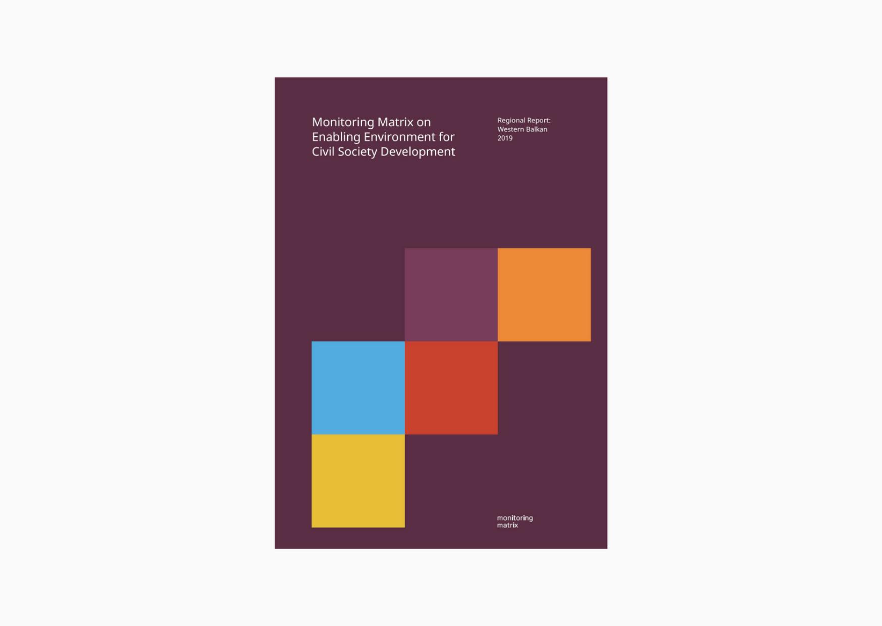 STUDY: Monitoring Matrix on Enabling Environment for Civil Society Developmen in the Western Balkan countries